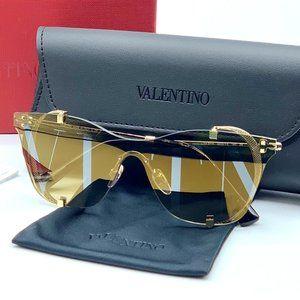 NIB VALENTINO Mirrored VLTN Eye Shields Sunglasses